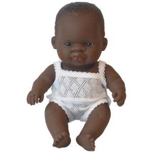 Miniland Baby Poupon fille africaine (21 cm)