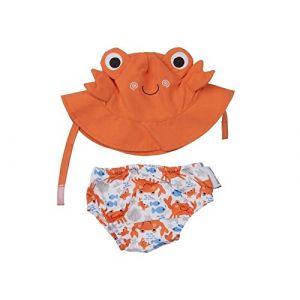 Zoocchini Maillot/Chapeau Crabe 6-12 mois