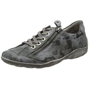 Remonte R3435, Sneakers Basses Femme, Gris (Asphalt/Schwarz 45), 37 EU