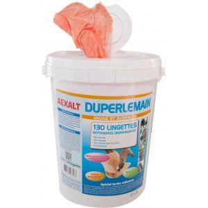 Outifrance Lingettes abrasives nettoyantes Duperlemain seau de 130 lingettes