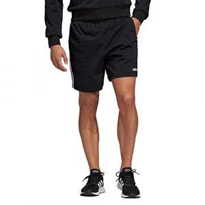 Adidas Essentials 3-Stripes SJ Short Homme, Noir/Blanc, FR (Taille Fabricant : 2XL)
