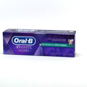 Oral-B 3D White Luxe - Dentifrice fraîcheur anti-tabac (75 ml)