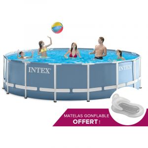 Intex 28736 piscine tubulaire ronde 4 57 x 1 22 m for Piscine intex 4 57 x 1 22