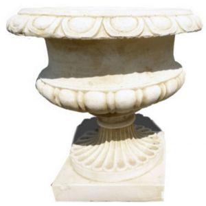 Deco granit Pot jardin rond en pierre reconstituée