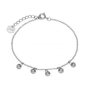 Cluse Bijoux Femme Essentielle Silver ?Orbs Chaîne ?Bracelet CLJ12011