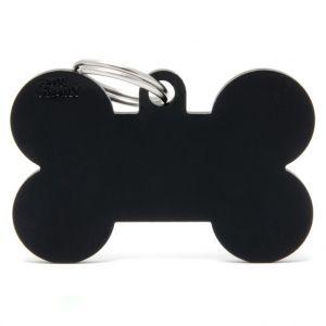 Myfamily Médaille basic os XL chien en aluminium noir