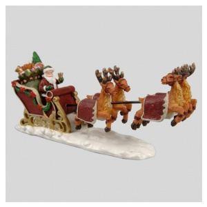 Traîneau du Père Noël dans les airs