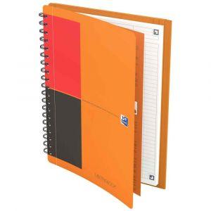 Oxford 400080789 - Cahier Meetingbook rel. intégrale B5 160p./80 feuilles 80g/m², ligné 6mm, avec chem. intégrée