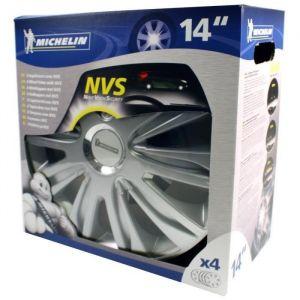 Michelin 4 enjoliveurs gris/chrome NVS 42 14 pouces