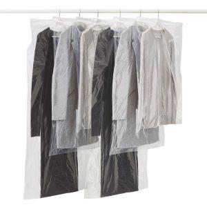 Rayen Lot de 6 housses pour vêtements Transparent