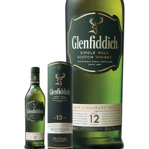 Glenfiddich Whisky Ecosse Speyside Single Malt 12 ans 40 % vol.