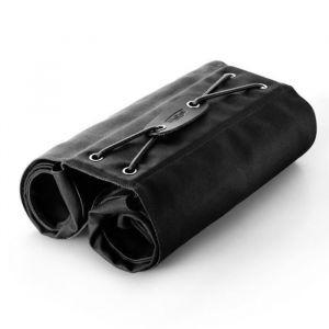 Brooks Sacoches Bricklane Noir - Sacoches Noir - Tissu coton et en cuir - Peuvent être facilement roulées ou libérés - Volume : 15 L.