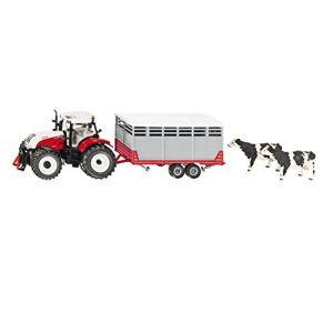 Siku 3870 - Tracteur Steyr avec remorque bétaillère - Echelle 1/32