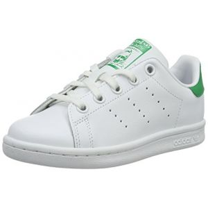 Adidas Stan Smith - Chaussures - Mixte Enfant - Blanc (Footwear White/Footwear White/Green 0) - 32 EU