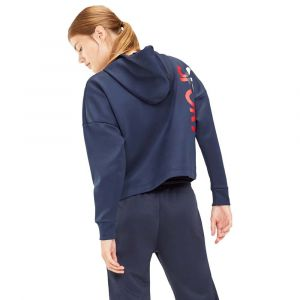 Tommy Hilfiger Sweat crop capuche signature Ligne Sport Bleu