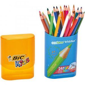 Bic Kids Pack Durable Crayons de couleur Etui de 24