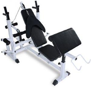 Physionics® HNTLB05 - Banc de musculation multifonction avec support pour haltères et poids
