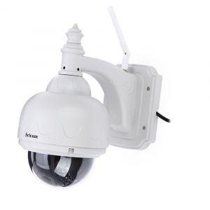 SRICAM SP015 720P H.264 WiFi IP Caméra sans fil ONVIF IR Vision nocturne Motion détection sécurité extérieure EU PLUG