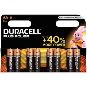 Duracell 8 piles AA LR06 1.5V Plus Power