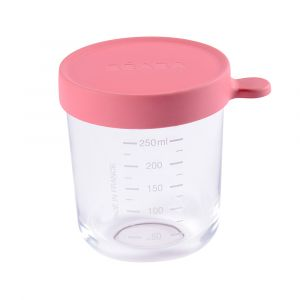Beaba Pot de conservation portion en verre 250 ml dark pink