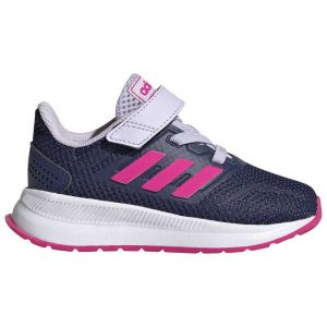 Adidas Runfalcon I, Basket Mixte Enfant, Tech Indigo/Shock Pink/Purple Tint, 26 EU