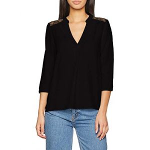 Vero Moda Vmboca 3/4 Lace Blouse Noos Noir (Black) 36 (Taille Fabricant: X-Small) Femme
