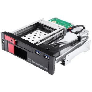 "Thermaltake Max 5 Duo SATA HDD Rack - Rack 5.25"" pour 2 HDD/SSD 2.5"" et 3.5"" SATA avec 2 ports USB 3.0"