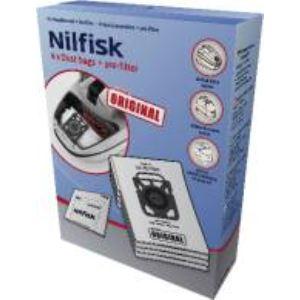 Nilfisk 107407940 - 4 sacs à poussières + pré-filtre pour aspirateurs