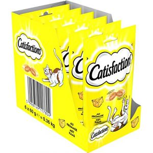 Catisfactions Friandises au fromage - Chat adulte et chaton 60 g (x6)