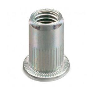 Diamwood Ecrou à sertir cranté tête plate Acier M5 x 30 mm - Boite de 500 pcs - EAPC0503002B