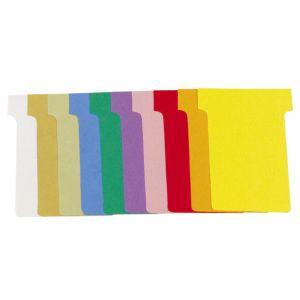 Exacompta 57645E - 1000 fiches en T 92x120x80x15 n°3 - couleurs assorties sous film