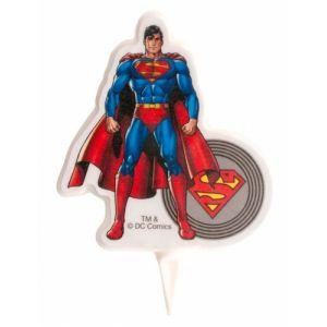 Dekora Bougie d'anniversaire Superman 7.5 cm Taille Unique
