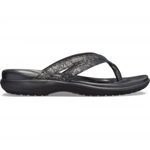 Crocs Tongs CAPRI STRAPPY FLIP Noir - Taille 36/37;37/38;38/39;39/40;41/42