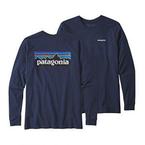 Patagonia T-shirt LS P6 LOGO RESPONSIBILI-TEE bleu - Taille M