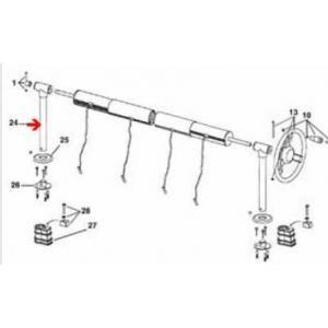 Procopi 1867008 - Pied de rechange pour enrouleur de bâche de piscine G-10 à sceller