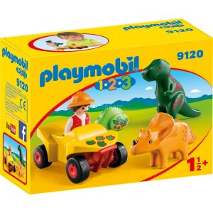 Playmobil 9120 - 1.2.3 : Explorateur de dino avec quad