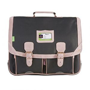 Tann's Cartable 2 Compartiments Avec Trousse Assortie Gris