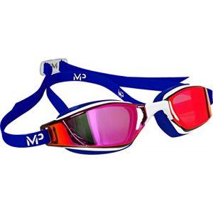 Michael Phelps MP Xceed USA édition limitée Lunettes de natation standardT-shirt Blanc/Rouge/Bleu