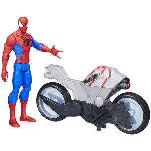 Hasbro Figurine 15 cm - Spider-Man & sa moto