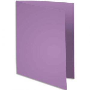 Exacompta 330008E - Paquet de 100 chemises SUPER 250, coloris lilas