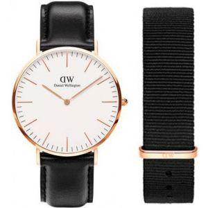 Daniel Wellington DW00500002 - Montre pour femme avec 2 bracelets