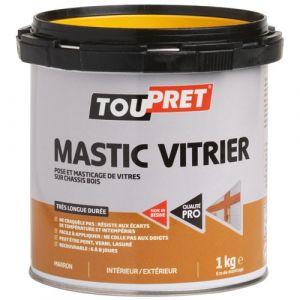 Toupret Mastic vitrier marron 1kg