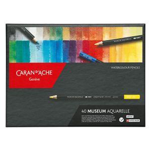 Caran d'Ache Crayon de couleur Museum Aquarelle Boite de 40 couleurs