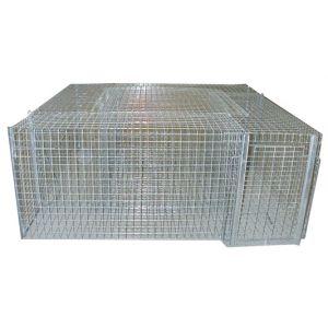 Lucifer Cage carrée à pies - 5 compartiments - 80 x 80 cm