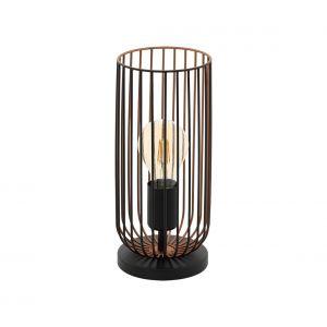 Eglo Lampe à poser ROCCAMENA Noir, Cuivre, 1 lumière - Vintage - Intérieur - ROCCAMENA - Délai de livraison moyen: 3 à 6 jours ouvrés. Port gratuit France métropolitaine et Belgique dès 100 €.
