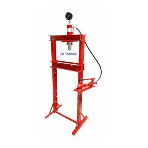 Presse hydraulique d'atelier 20 tonnes rouge