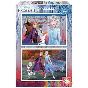 Educa Puzzle La Reine des Neiges 2 - 2 x 48 pièces