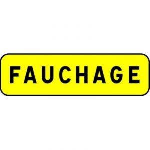 Taliaplast 525311 - Panonceau indication fauchage km t1 700x200mm