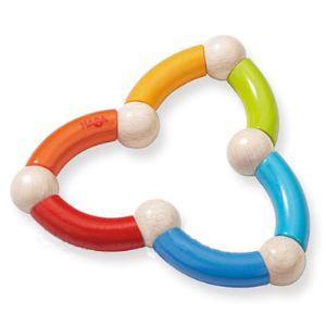 Haba Hochet en bois Serpent multicolore