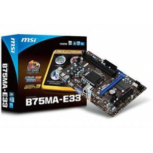 MSI B75MA-E33 - Carte mère Socket LGA 1155